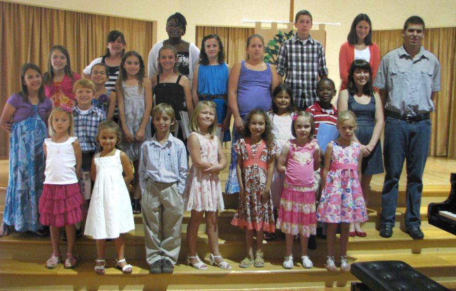 2012 Spring Piano Recital Student Participants - Group 1